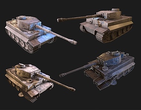 3D asset Tiger Germany PBR Unity Game Ready tank model