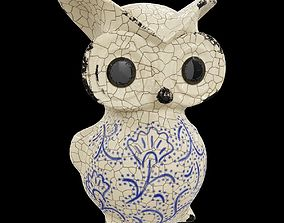 Ceramics Owl model 2 3D asset