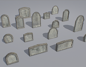 Gravestones pack 1 3D model realtime