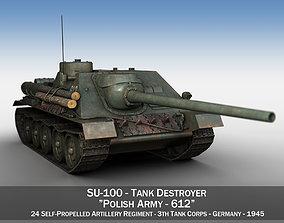 SU-100 - 612 - Soviet Tank Destroyer 3D