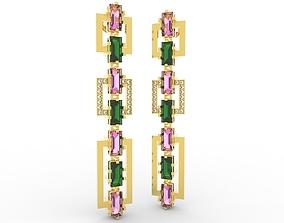 3D print model Shiny Earring Baguete Jewelery