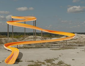 3D model low-poly Water Slide