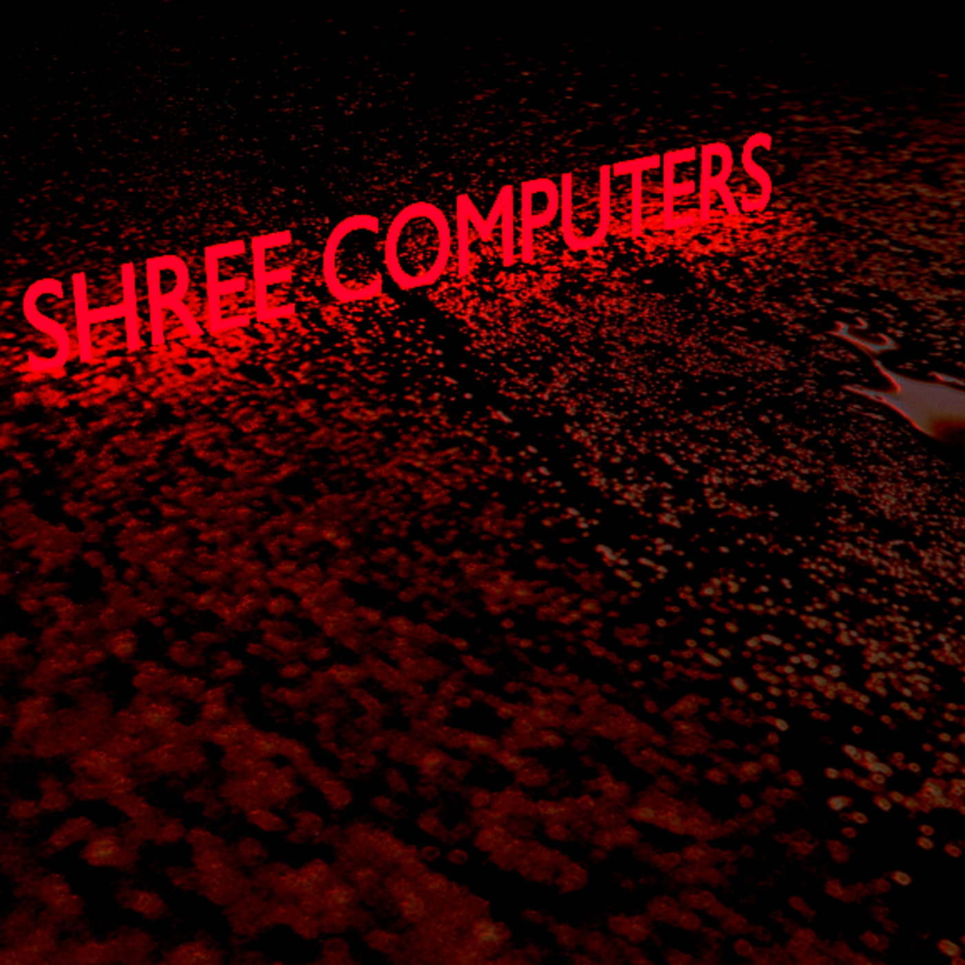 textures With Neon Text