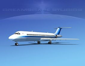 Douglas DC-9-30 Corporate 2 3D