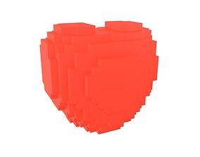 Voxel Heart v1 007 3D asset