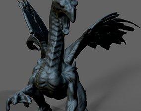 Ice dragon statue 3D printable model