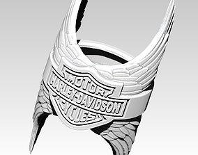 Biker Ring with pair wings version 2 3D printable model