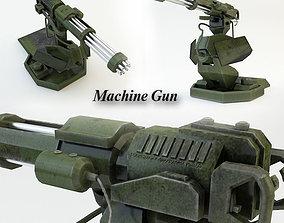 3D asset Machine Gun 1