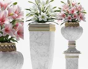 3D model DECORATIVE VASE AND LILY
