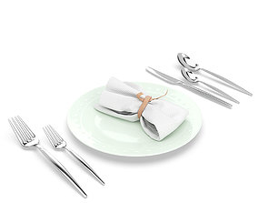 3D Silverware and Diningware set