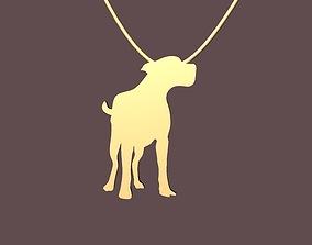 jewel dog shape pendant - joia 3D printable model 2