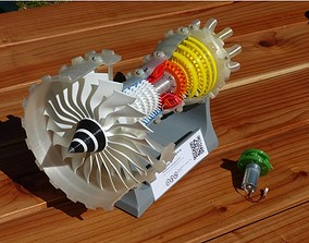 3d printed jet engine hand