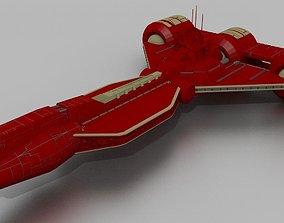 Republic light assault cruiser set 3D model