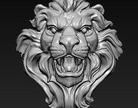 3D printable model lion jewelry symbol