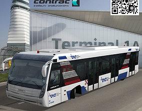 Cobus 3000 Vienna Airport 3D asset animated
