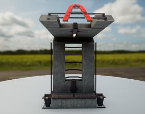 Retro Sci-Fi Soviet Bus Stop P1 3D asset