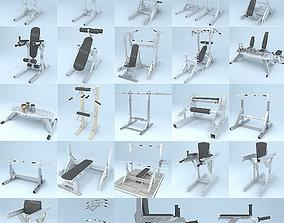 3D Gym Equipment Kit