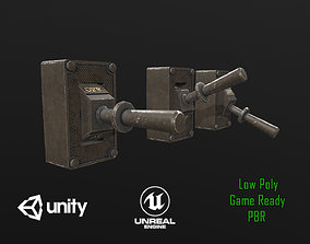 Industrial Power On - Off Switch 1 3D asset
