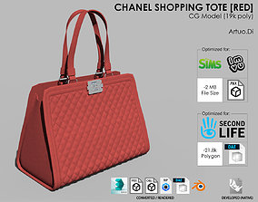 Chanel Shopping Tote Red 3D model