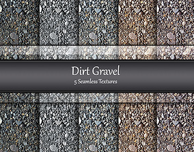 3D Dirt Gravel Seamless Textures Set