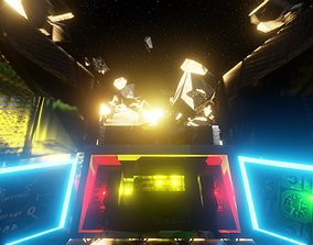meteor model for scifi animations 3D asset