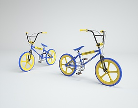 3D model 1980s Raleigh Burner BMX Bicycle