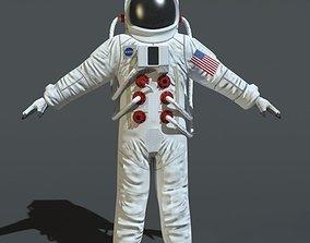 3D asset VR / AR ready Astronauts