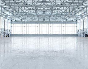 3D asset Airplane Hangar Interior 4