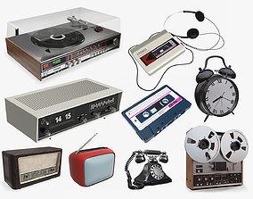 Vintage electronics pack 3D
