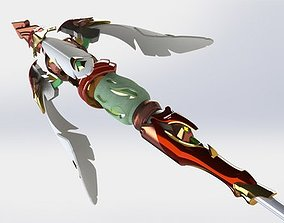 3D print model China mercy zhuque staff wings overwatch