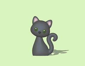 Little Sitting Cat 3D print model