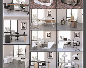 10 Office Desk 3d models Collection