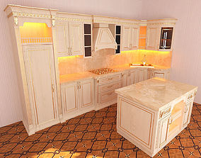 3D model Kitchen Classic AfqanXalidKhaganfx
