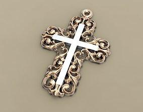 Cross worn on the neck 3D print model
