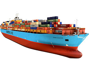 Maersk container ship 300m 3D model