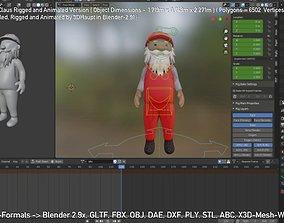Rigged Santa Claus 3D asset