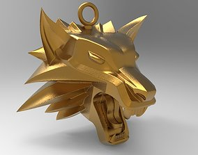 witcher pendant wolf 3D printable model