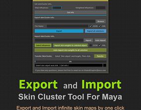 Export - Import SkinCluster 3D model