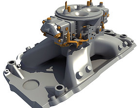 3D Holley Carburetor Intake Manifold