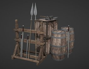 3D model Medieval Props - Lowpoly