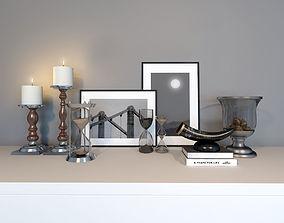 modern decor set 3D