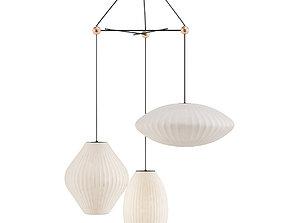 triple bubble lamp fixture 3D model