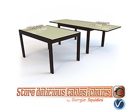 3D model Table NEW SMART OLIVO and GODEASSI