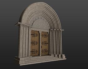 3D model Medieval church gothic portal