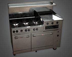 3D model KTC - Industrial Kitchen Range - PBR Game Ready