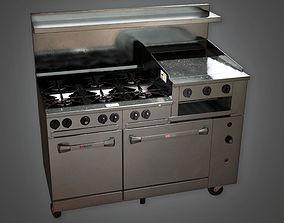 Industrial Kitchen Range KTC - PBR Game Ready 3D asset