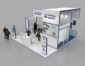 6x6 Meter exhibition stand 3D model