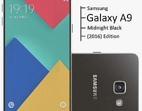3D model Samsung Galaxy A9 2016 Midnight Black