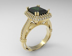 Model 120 Ring with emerald cut stone