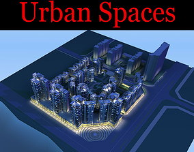 Skyscrapers in Small Downtown 3D